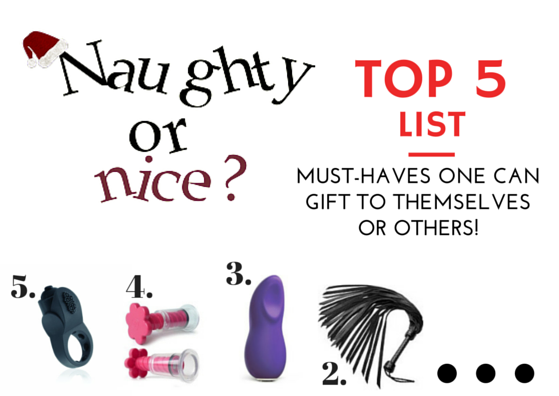 5 Things You Need For A Nice or Naughty Holiday